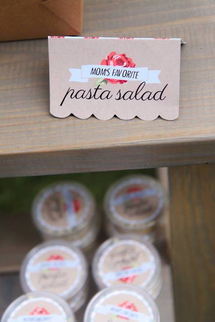 Tent food label from a Shabby Chic Farmers Market Birthday Party via Kara's Party Ideas | KarasPartyIdeas.com - The place for all things PARTY! (21)