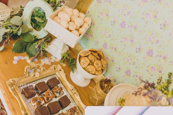 Sweet treats from a Shabby Chic Lavender & Mint Birthday Party via Kara's Party Ideas   KarasPartyIdeas.com - The place for all things PARTY! (12)
