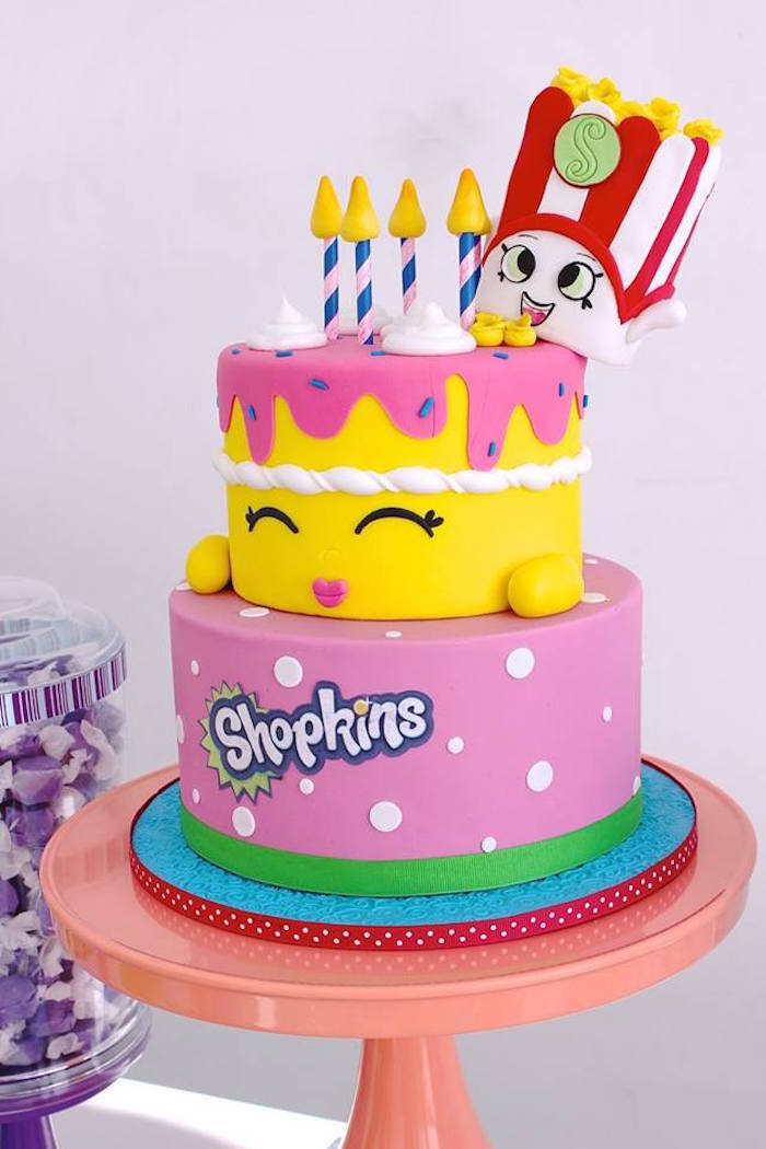 Shopkins Betty Birthday Cake