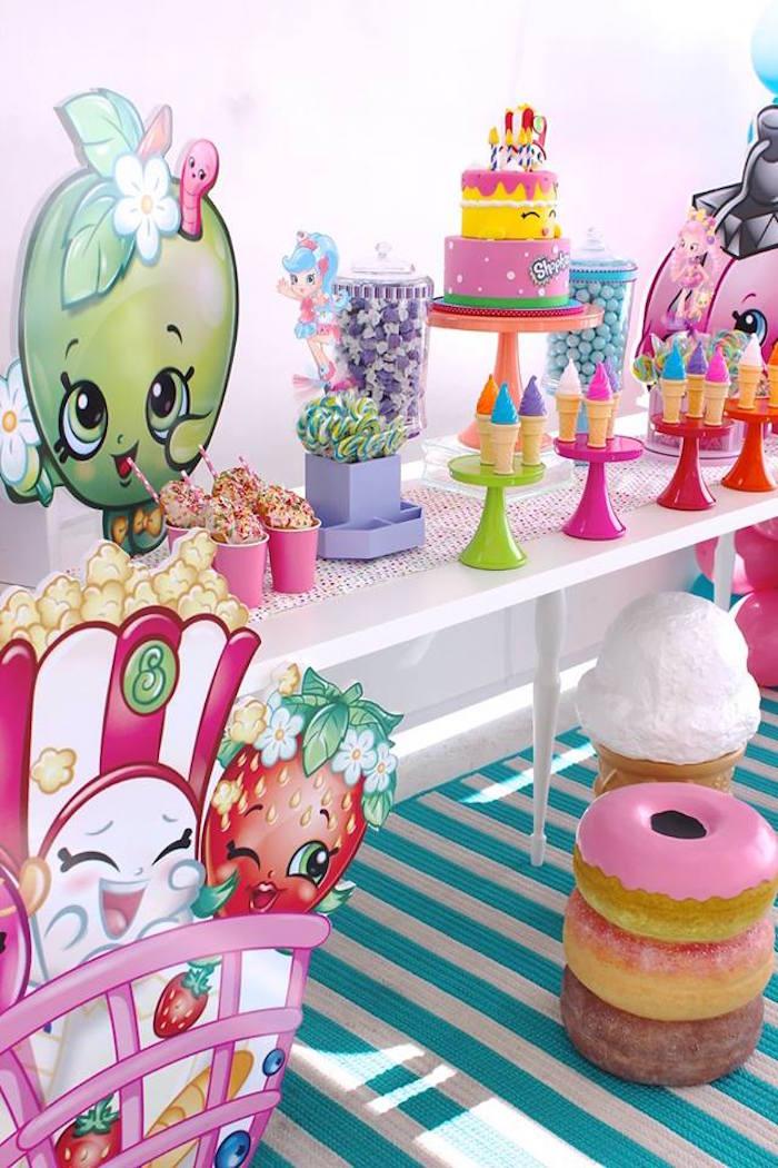 Sweet table from a Shopkins Birthday Party via Kara's Party Ideas | KarasPartyIdeas.com (4)