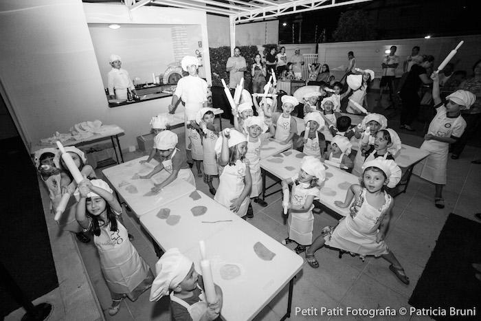 Kids Making Pizzas from a Snoopy Pizza Themed Birthday Party via Kara's Party Ideas KarasPartyIdeas.com (17)