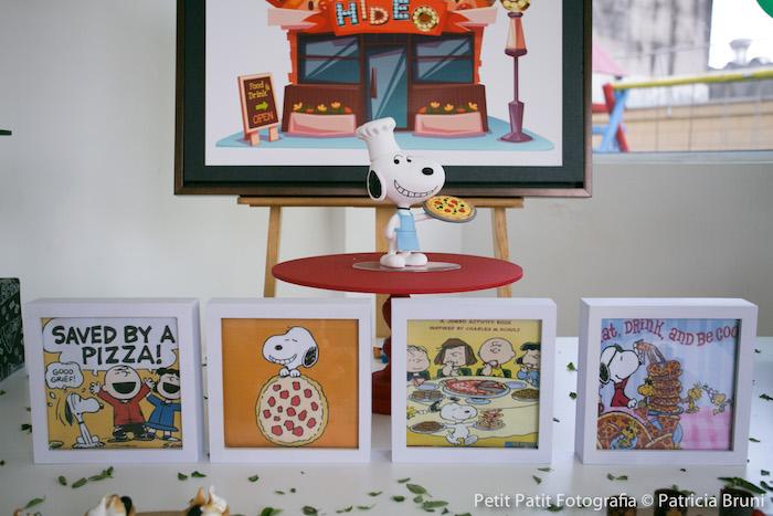 Sweet Table Decor from a Snoopy Pizza Themed Birthday Party via Kara's Party Ideas KarasPartyIdeas.com (26)