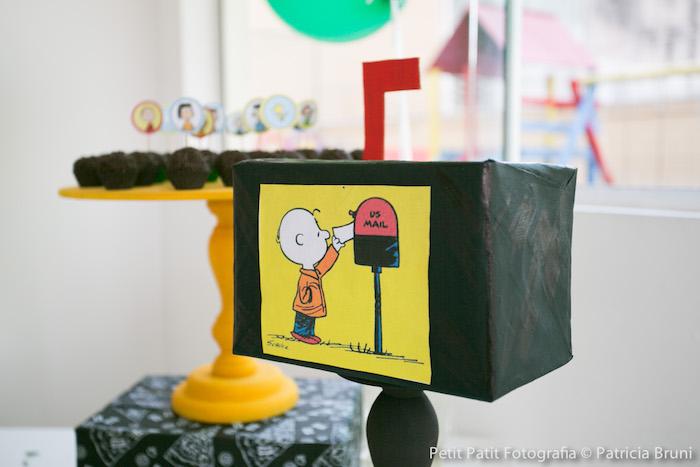 Mailbox Decor Piece from a Snoopy Pizza Themed Birthday Party via Kara's Party Ideas KarasPartyIdeas.com (22)