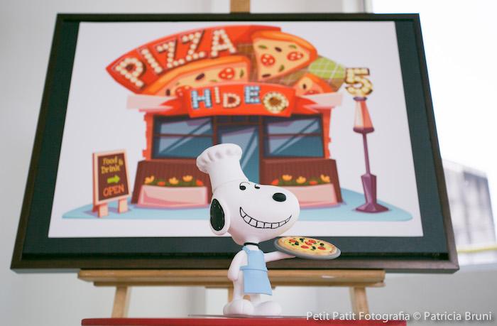 Snoopy Decor Piece from a Snoopy Pizza Themed Birthday Party via Kara's Party Ideas KarasPartyIdeas.com (21)