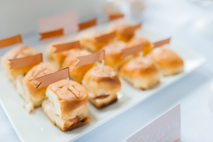 Mini sandwich sliders from a Sugar & Spice 1st Birthday Party via Kara's Party Ideas | KarasPartyIdeas.com - THE PLACE FOR ALL THINGS PARTY! (16)