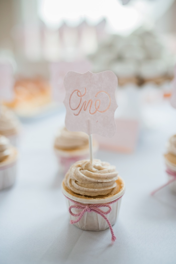 Cinnamon Spice Cupcake from a Sugar & Spice 1st Birthday Party via Kara's Party Ideas | KarasPartyIdeas.com - THE PLACE FOR ALL THINGS PARTY! (14)