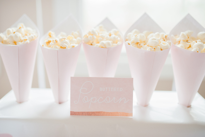 Popcorn favor cones from a Sugar & Spice 1st Birthday Party via Kara's Party Ideas | KarasPartyIdeas.com - THE PLACE FOR ALL THINGS PARTY! (11)