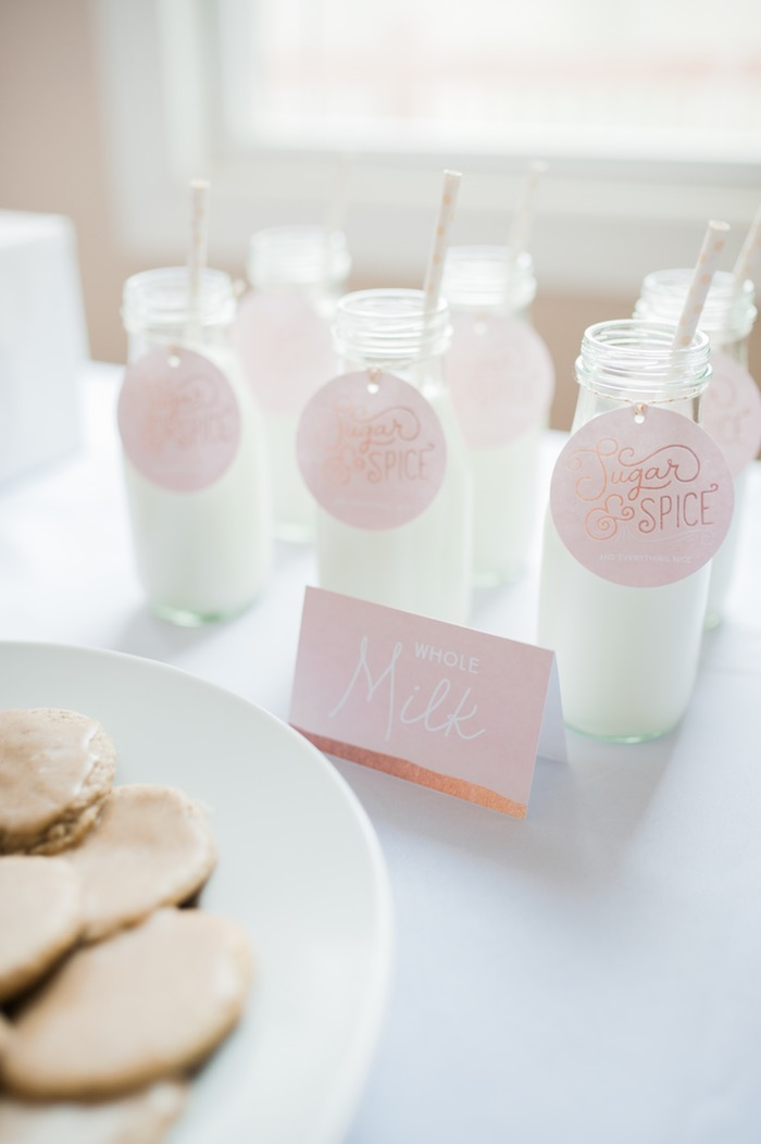 Milk from a Sugar & Spice 1st Birthday Party via Kara's Party Ideas | KarasPartyIdeas.com - THE PLACE FOR ALL THINGS PARTY! (10)