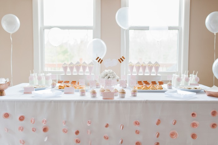 Dessert table from a Sugar & Spice 1st Birthday Party via Kara's Party Ideas | KarasPartyIdeas.com - THE PLACE FOR ALL THINGS PARTY! (7)