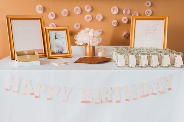 Dessert table from a Sugar & Spice 1st Birthday Party via Kara's Party Ideas | KarasPartyIdeas.com - THE PLACE FOR ALL THINGS PARTY! (25)