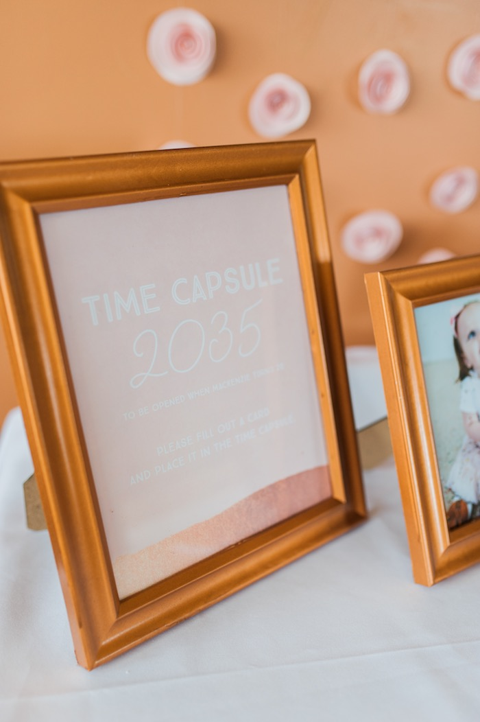 Time capsule signage from a Sugar & Spice 1st Birthday Party via Kara's Party Ideas | KarasPartyIdeas.com - THE PLACE FOR ALL THINGS PARTY! (20)