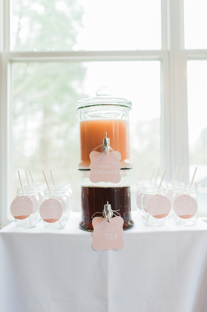 Drink table from a Sugar & Spice 1st Birthday Party via Kara's Party Ideas | KarasPartyIdeas.com - THE PLACE FOR ALL THINGS PARTY! (19)