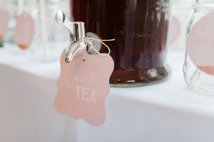 Drink dispenser signage from a Sugar & Spice 1st Birthday Party via Kara's Party Ideas | KarasPartyIdeas.com - THE PLACE FOR ALL THINGS PARTY! (18)