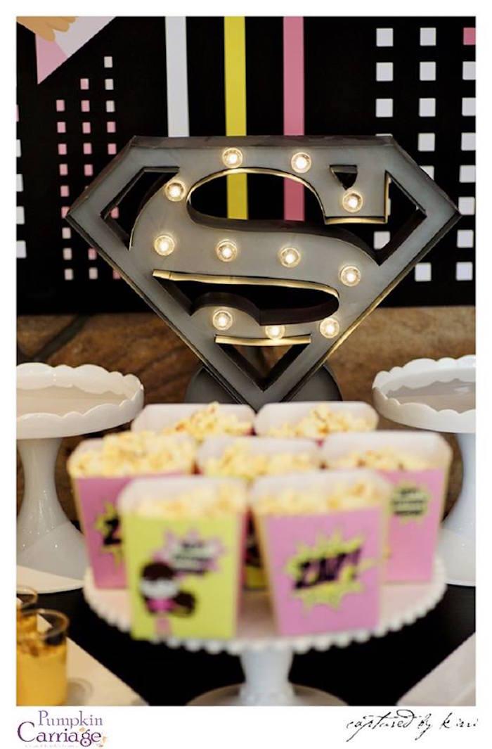Karas Party Ideas Supergirl Superhero Themed Birthday Party