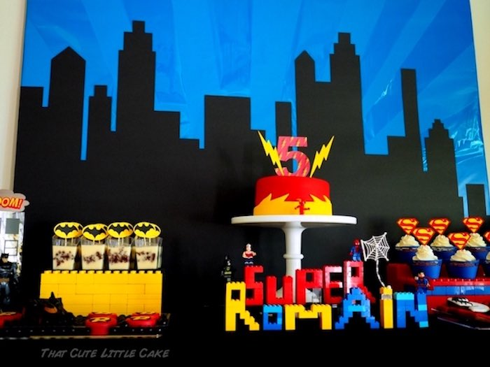 Sweet table detail from a Superhero Birthday Party via Kara's Party Ideas | KarasPartyIdeas.com - The Place for All Things Party! (10)