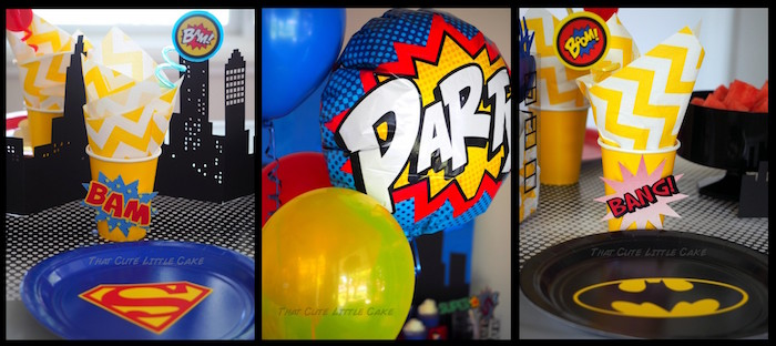 Superhero Birthday Party via Kara's Party Ideas | KarasPartyIdeas.com - The Place for All Things Party! (26)