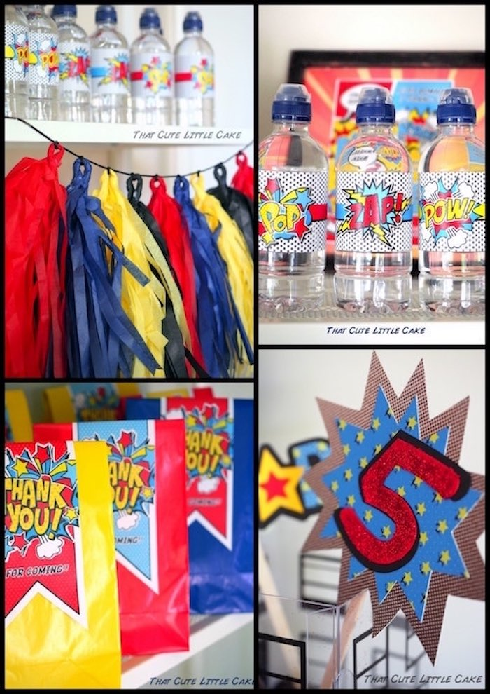 Superhero Birthday Party via Kara's Party Ideas | KarasPartyIdeas.com - The Place for All Things Party! (4)
