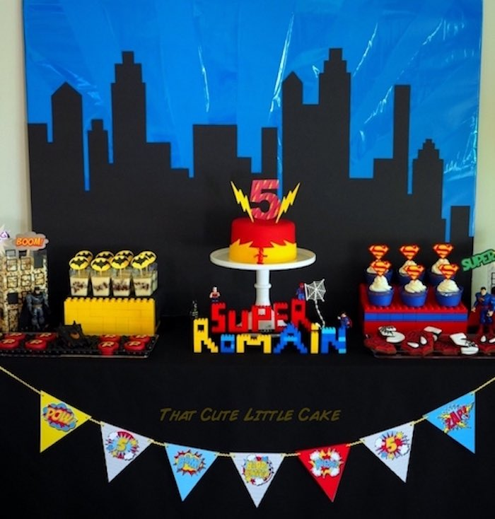 Superhero Birthday Party via Kara's Party Ideas | KarasPartyIdeas.com - The Place for All Things Party! (3)