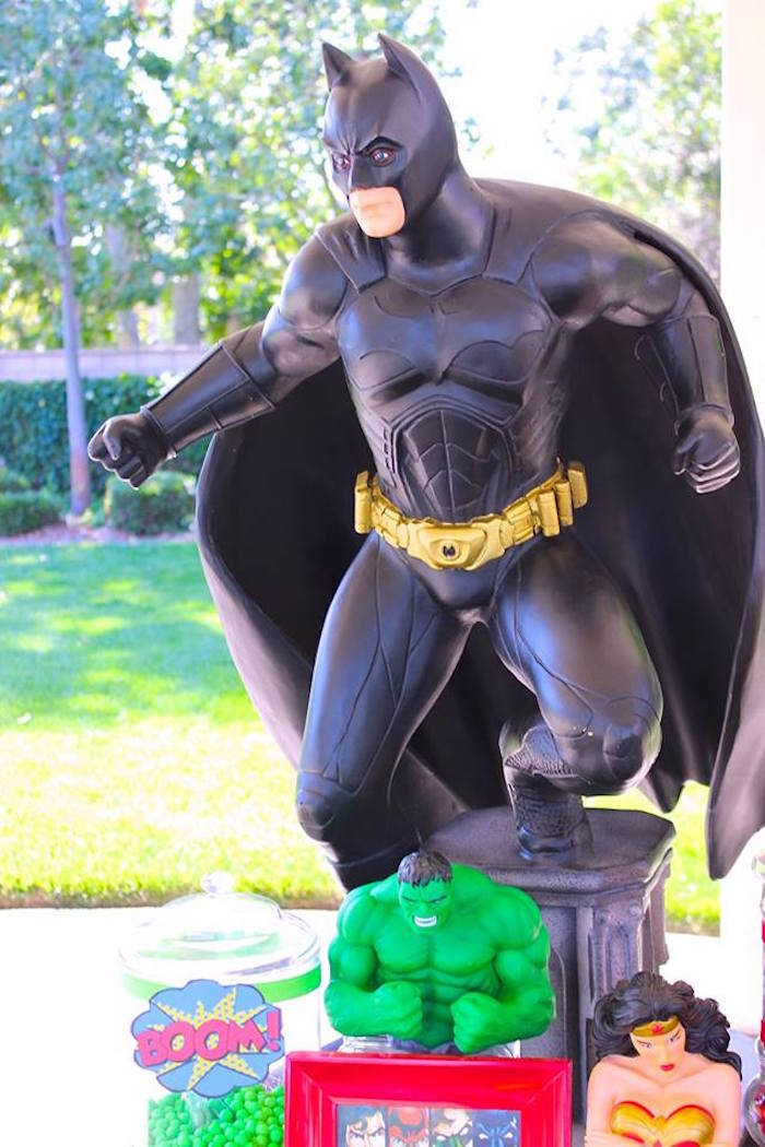 Batman from a Superheroes u0026 Villains Dessert Buffet via Karau0027s Party Ideas | KarasPartyIdeas.com  sc 1 st  Karau0027s Party Ideas & Karau0027s Party Ideas Superheroes u0026 Villains Dessert Buffet | Karau0027s ...