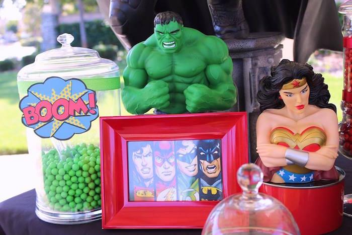 Details from a Superheroes & Villains Dessert Buffet via Kara's Party Ideas   KarasPartyIdeas.com (6)