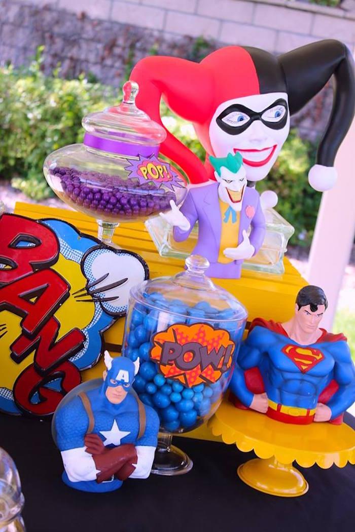 Details from a Superheroes & Villains Dessert Buffet via Kara's Party Ideas   KarasPartyIdeas.com (19)