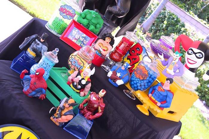 Details from a Superheroes & Villains Dessert Buffet via Kara's Party Ideas   KarasPartyIdeas.com (17)