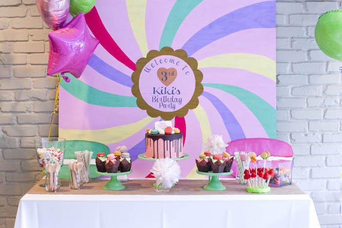 Dessert table from a Sweet Macaron Themed Birthday Party via Kara's Party Ideas KarasPartyIdeas.com (15)