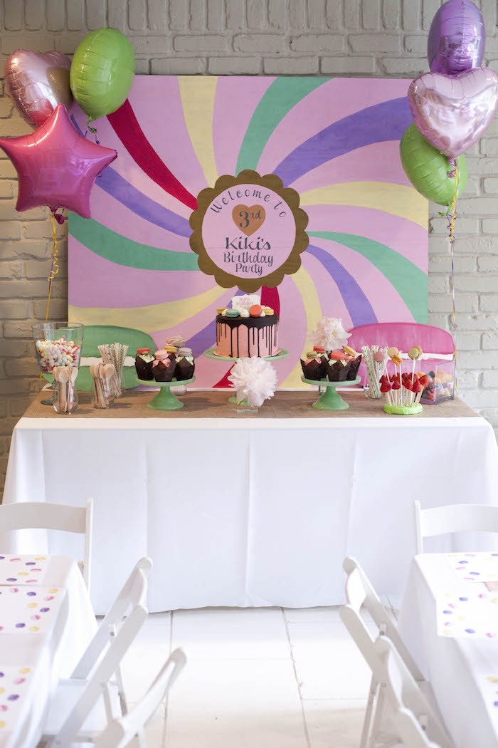 Head table from a Sweet Macaron Themed Birthday Party via Kara's Party Ideas KarasPartyIdeas.com (13)