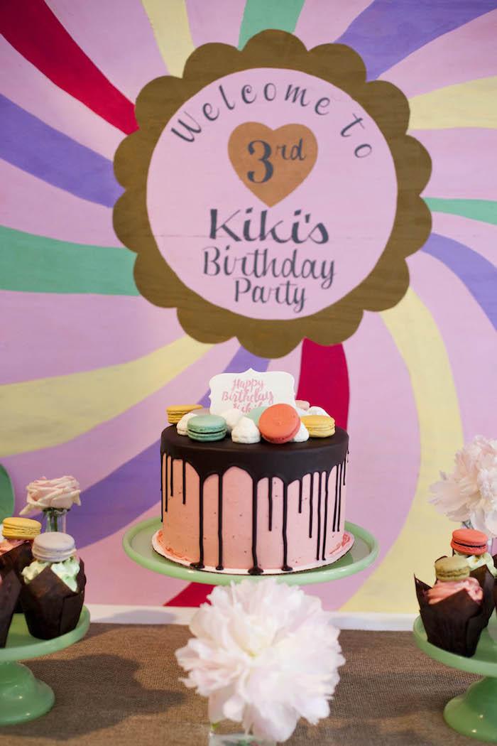 Kara S Party Ideas Sweet Macaron Themed Birthday Party