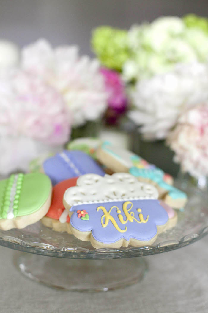 Cookies from a Sweet Macaron Themed Birthday Party via Kara's Party Ideas KarasPartyIdeas.com (6)