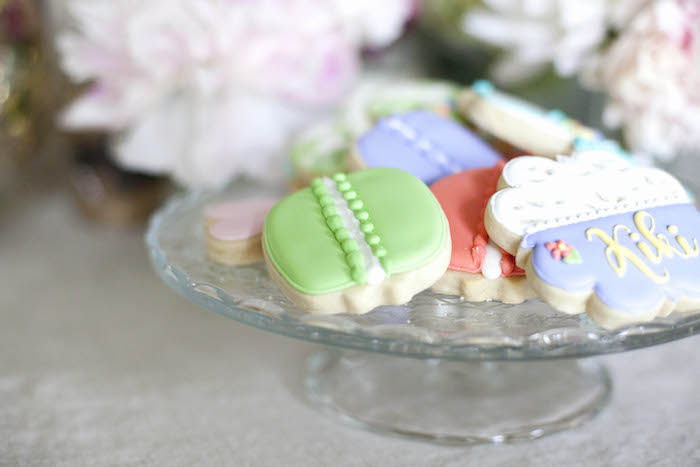 Cookies from a Sweet Macaron Themed Birthday Party via Kara's Party Ideas KarasPartyIdeas.com (25)