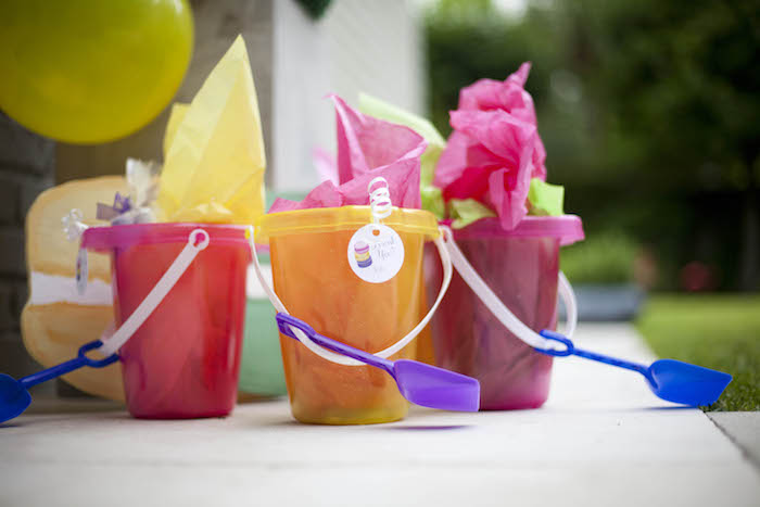 Favor buckets from a Sweet Macaron Themed Birthday Party via Kara's Party Ideas KarasPartyIdeas.com (23)