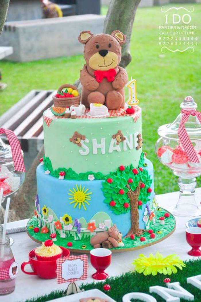 Kara\'s Party Ideas Teddy Bear Birthday Party Picnic | Kara\'s Party ...