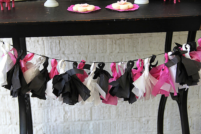 Tissue Paper Tassel Garland from a Tiny Tea Party for Two via Kara's Party Ideas | KarasPartyIdeas.com (15)