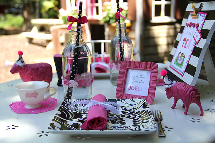 Place Setting from a Tiny Tea Party for Two via Kara's Party Ideas | KarasPartyIdeas.com (8)