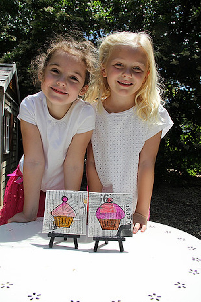 Little Girls from a Tiny Tea Party for Two via Kara's Party Ideas | KarasPartyIdeas.com (25)