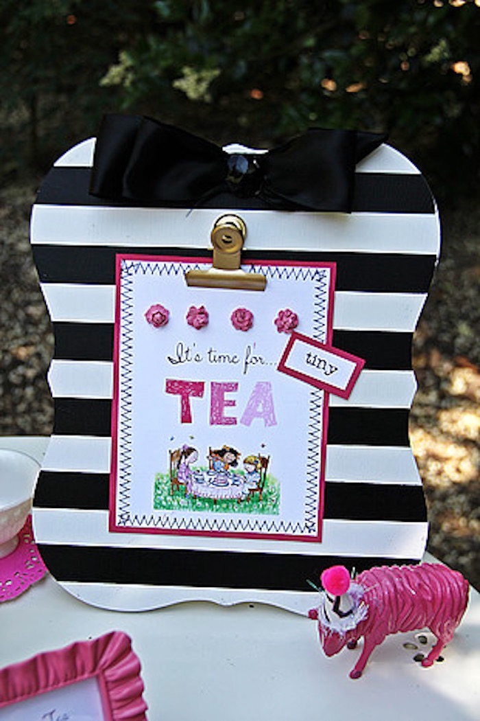 Party Signage from a Tiny Tea Party for Two via Kara's Party Ideas | KarasPartyIdeas.com (24)