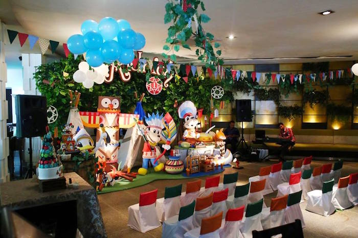 Partyscape from a Tribal Mickey Mouse Themed Birthday Party via Kara's Party Ideas KarasPartyIdeas.com (11)