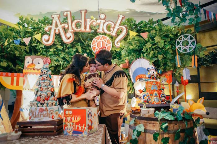 Birthday kisses from a Tribal Mickey Mouse Themed Birthday Party via Kara's Party Ideas KarasPartyIdeas.com (8)