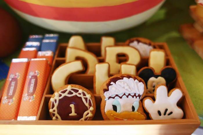 Cookies from a Tribal Mickey Mouse Themed Birthday Party via Kara's Party Ideas KarasPartyIdeas.com (7)