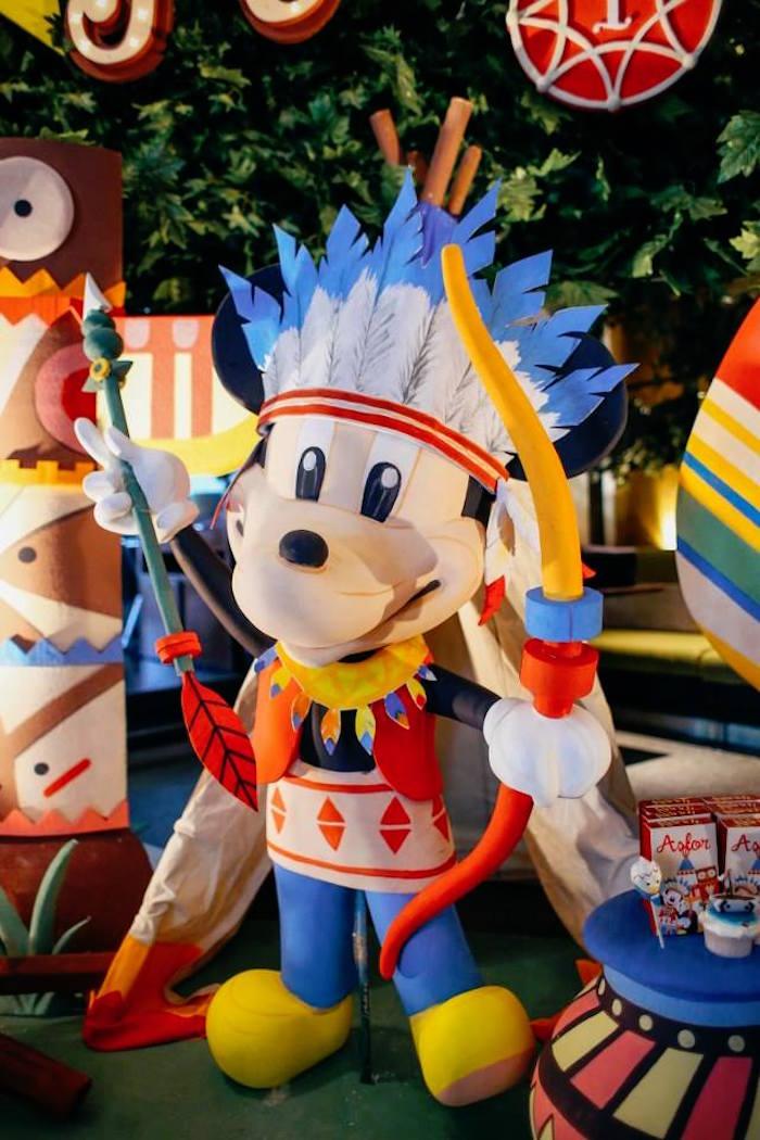 Mickey Mouse prop from a Tribal Mickey Mouse Themed Birthday Party via Kara's Party Ideas KarasPartyIdeas.com (5)
