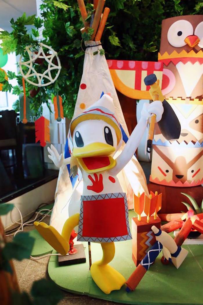 Daffy Duck prop from a Tribal Mickey Mouse Themed Birthday Party via Kara's Party Ideas KarasPartyIdeas.com (18)