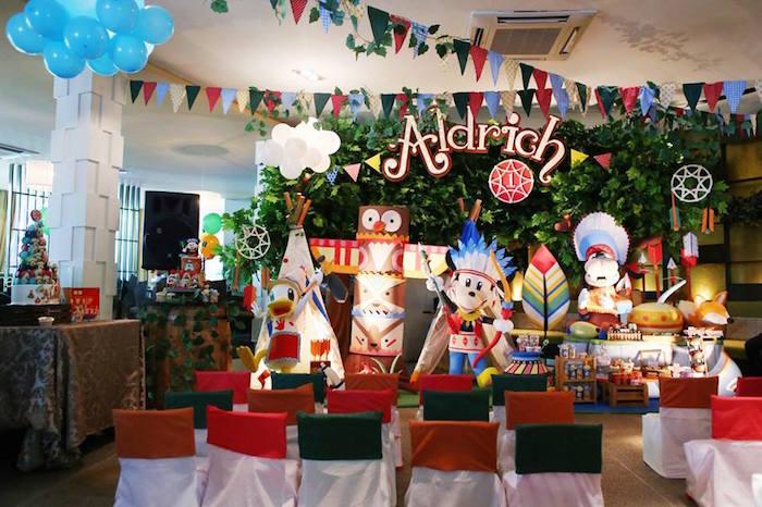 Tribal Mickey Mouse Themed Birthday Party via Kara's Party Ideas KarasPartyIdeas.com (17)