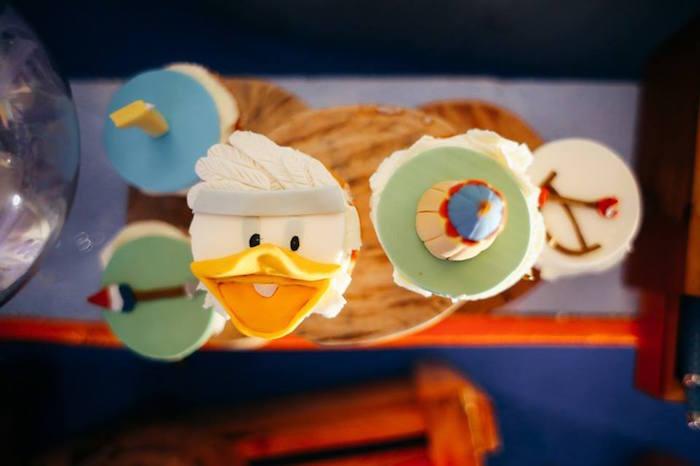 Cupcakes from a Tribal Mickey Mouse Themed Birthday Party via Kara's Party Ideas KarasPartyIdeas.com (14)