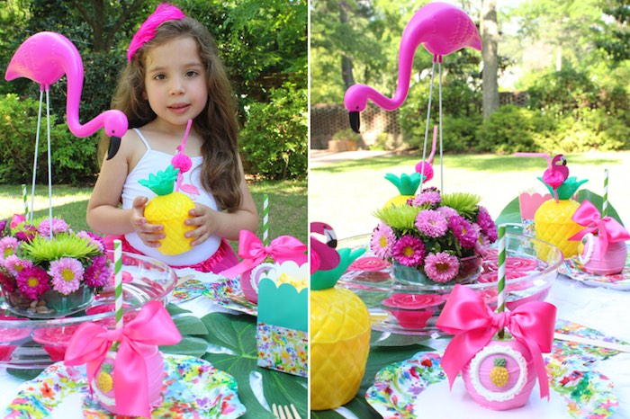 Tropical Flamingo Themed Birthday Party via Kara's Party Ideas | KarasPartyIdeas.com - The Place for All Things Party! (22)