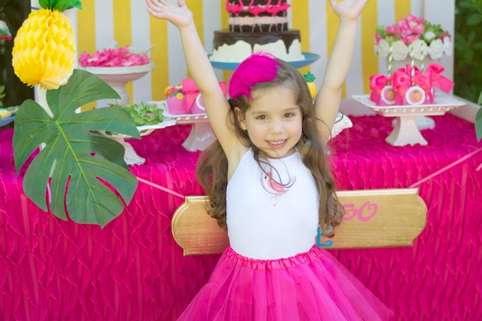 Happy birthday girl from a Tropical Flamingo Themed Birthday Party via Kara's Party Ideas | KarasPartyIdeas.com - The Place for All Things Party! (20)