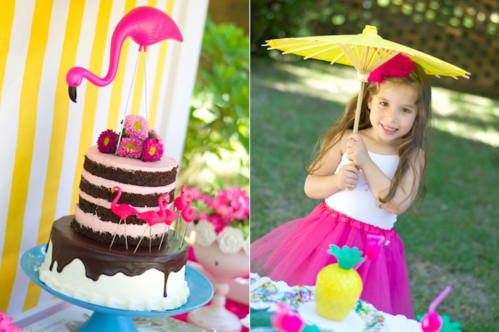 Tropical Flamingo Themed Birthday Party via Kara's Party Ideas | KarasPartyIdeas.com - The Place for All Things Party! (19)