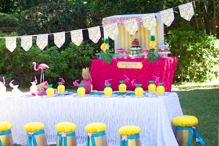 Tropical Flamingo Themed Birthday Party via Kara's Party Ideas | KarasPartyIdeas.com - The Place for All Things Party! (10)