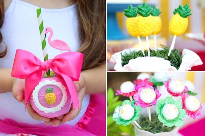 Sweets from a Tropical Flamingo Themed Birthday Party via Kara's Party Ideas | KarasPartyIdeas.com - The Place for All Things Party! (7)