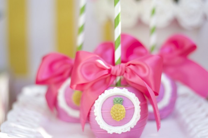 Gourmet apples from a Tropical Flamingo Themed Birthday Party via Kara's Party Ideas | KarasPartyIdeas.com - The Place for All Things Party! (33)